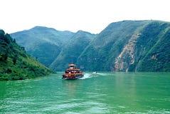 Fleuve de Yang Tsé Kiang Three Gorges - petit Three Gorges Photos libres de droits