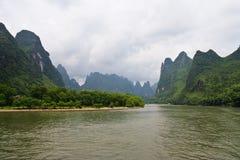Fleuve de Yangshuo Li, Guilin Images libres de droits