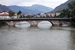 Fleuve de Yesilirmak dans Amasya Photos stock