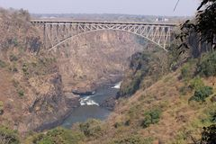 Fleuve de Zambezi Photo stock