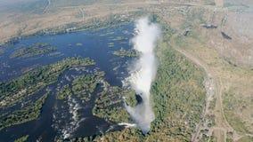Fleuve de Zambezi et Victoria Falls Photographie stock libre de droits