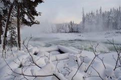 Fleuve en hiver Photographie stock libre de droits