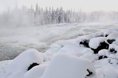 Fleuve en hiver Photo stock