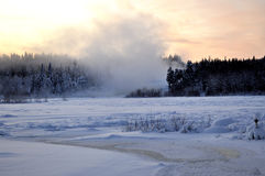 Fleuve en hiver Image stock