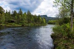 Fleuve en Norvège image stock