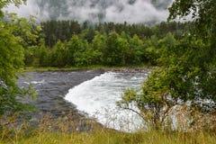 Fleuve en Norvège Photo libre de droits