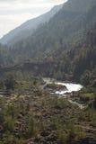 Fleuve en vallée de Khumbu Image libre de droits