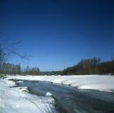 fleuve figé Photographie stock libre de droits