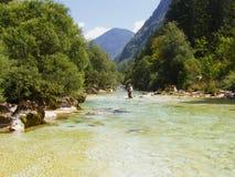 fleuve flyfishing Photos libres de droits