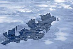 Fleuve froid Images libres de droits