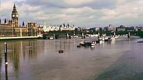 Fleuve la Tamise de Londres clips vidéos