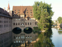 Fleuve Nuremberg de Pegnitz Photo stock