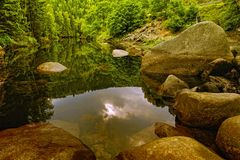 Fleuve présagé en montagnes de Harz Photo stock