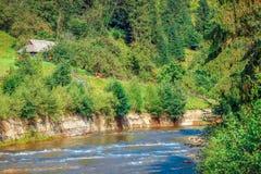 Fleuve rapide de montagne photos libres de droits