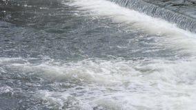 Fleuve rugueux mouvement rapide de rapide de l'eau banque de vidéos