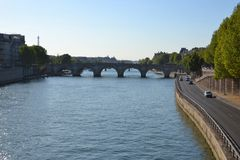 Fleuve Seine, Paris Images libres de droits