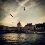 Fleuve Seine, Paris Photographie stock