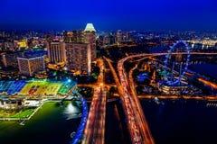 fleuve Singapour de paysage urbain de ville Photos stock