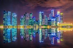 fleuve Singapour de paysage urbain de ville Photo stock