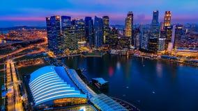 fleuve Singapour de paysage urbain de ville Images stock
