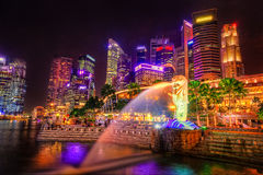 fleuve Singapour de paysage urbain de ville Images libres de droits