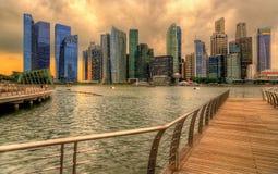 fleuve Singapour de paysage urbain de ville Photo libre de droits