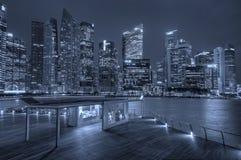 fleuve Singapour de paysage urbain de ville Photographie stock