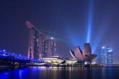 fleuve Singapour de paysage urbain de ville Photographie stock libre de droits