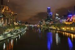 Fleuve Southbank Melbourn de Yarra Photos libres de droits