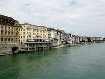fleuve Suisse de Bâle le Rhin Photographie stock libre de droits