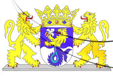 Flevoland Coat of Arms, Netherlands. Royalty Free Stock Photography