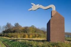 Flevoland-Denkmal stockbilder