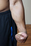 Flexed arm Royalty Free Stock Photography
