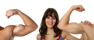 Flexed biceps Stock Photography
