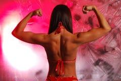 Flexión femenina Imagen de archivo libre de regalías