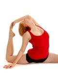 flexiable弯曲的舞蹈演员 免版税库存照片