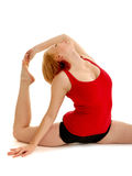Flexiable Dancer Bending Royalty Free Stock Photo