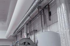 flexibel, Gewebe, PVC, Kanalisierung, Belüftung, industriell, verarbeitend lizenzfreie stockbilder