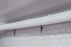 flexibel, Gewebe, PVC, Kanalisierung, Belüftung, industriell, verarbeitend lizenzfreies stockfoto