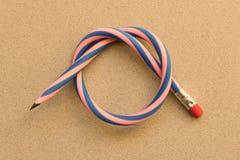 Flexibel potlood Geïsoleerd op lichtgrijze achtergrond stock foto's
