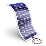 Flexibel zonnepaneel - 3D illustratie Stock Fotografie