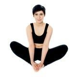Flexibele yogavrouw stock fotografie