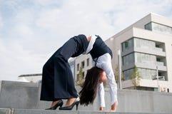 Flexibilität - Geschäftsfrau Stockbild