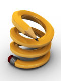 Spiralling pencil Royalty Free Stock Photo