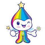 Flexibility as possible a Rainbow Mascot. Dream of Fairy Charact Royalty Free Stock Image