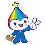 Flexibility as possible a Rainbow Mascot. Dream of Fairy Charact Royalty Free Stock Photo