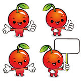 Flexibility as possible a set of Apple Mascot. Food and Market C Stock Image
