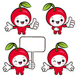 Flexibility as possible a set of Cherry Mascot. Fruit Character Stock Photo