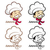 Flexibility as possible a set of Napolie Chef Mascot. Food and M Stock Photos