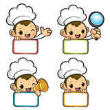 Flexibility as possible a sets of Chef Mascot. Work and Job Char Royalty Free Stock Photo